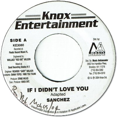 IF I DIDN'T LOVE YOU (VG+/WOL) / BABY I'M BACK (VG+)