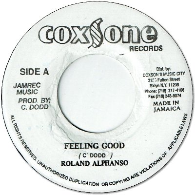 FEELING GOOD (VG+) / CAN'T YOU SEE (VG+/no print)