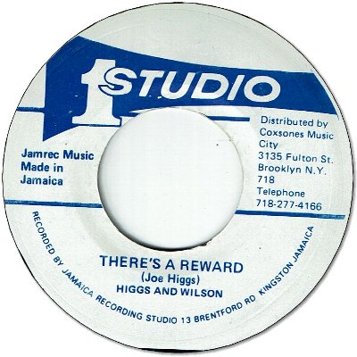 THERE'S A REWARD (VG to VG-) / unknown SKA inst