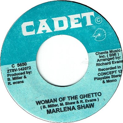 WOMAN OF THE GHETTO (VG+) / I'M SATISFIED (VG+)