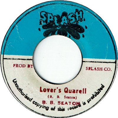 LOVER'S QUARELL (VG) / JUST LIKE A SHELTER (VG/WOL)