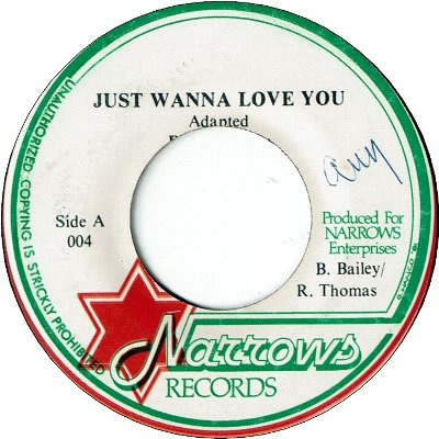 JUST WANNA LOVE YOU (VG+) / VERSION (VG+)