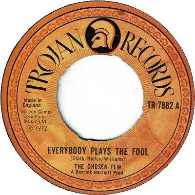 EVERYBODY PLAYS THE FOOL SOMETIME (VG) / YOU'RE BIG GIRL NOW (VG)