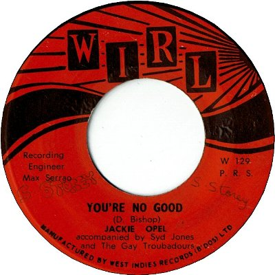 YOU'RE NO GOOD (VG+) / TEARS FROM MY EYES (VG to VG+)