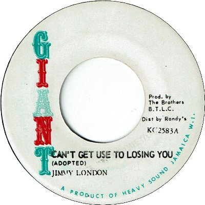 CAN'T GET USED TO LOSING YOU (VG+) / VERSION (VG)