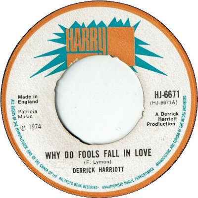 WHY DO FOOLS FALL IN LOVE (VG) / VERSION (VG+)