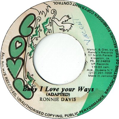 BABY I LOVE YOUR WAYS (VG+) / VERSION (VG/SWOL)