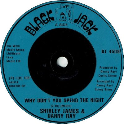 WHY DON'T YOU SPEND THE NIGHT (VG+) / LET ME LOVE YOU TONIGHT (VG+)
