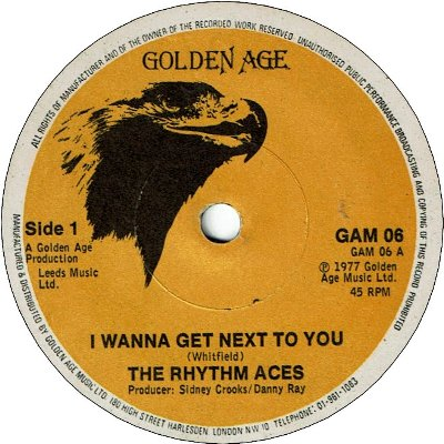I WANNA GET NEXT TO YOU (VG-) / VERSION (VG-)