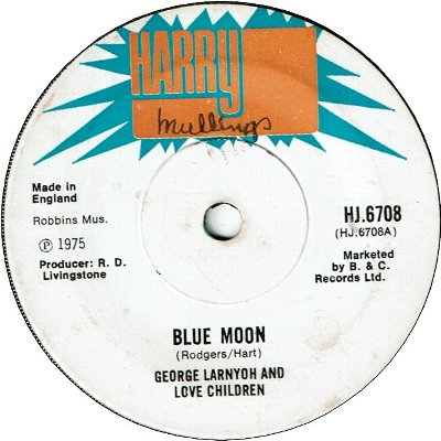 BLUE MOON (VG+/WOL) / GREENSLEEVES (VG+/WOL)