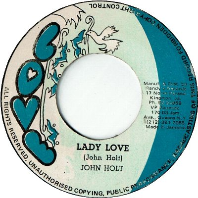 LADY LOVE (VG+) / COUNTRY BOY (VG+)