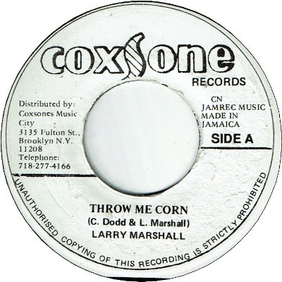 THROW ME CORN (VG) / VERSION (VG)