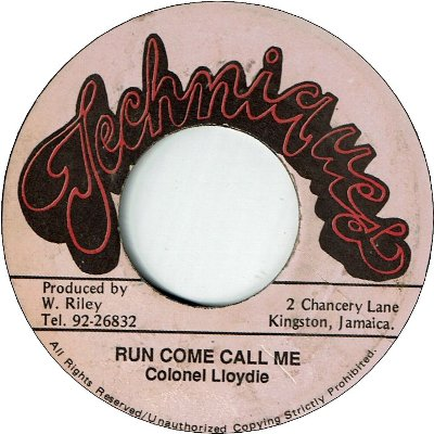RUN COME CALL ME (VG) / Didn't I version (VG)
