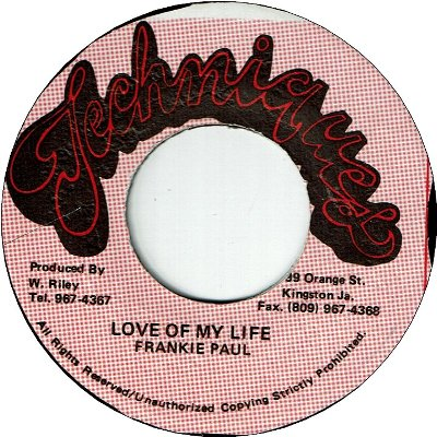LOVE OF MY LIFE (VG) / VERSION (VG)