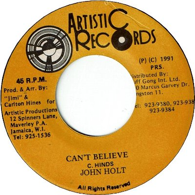 CAN'T BELIEVE (VG+)