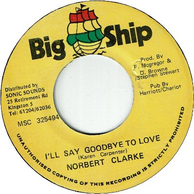 I'LL SAY GOODBYE TO LOVE (VG+)