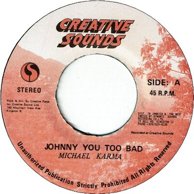 JOHNNY YOU TOO BAD (EX)