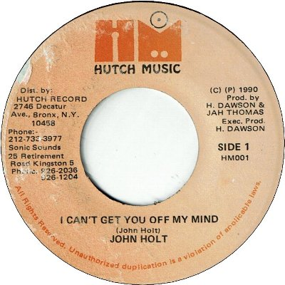 I CAN'T GET YOU OFF MY MIND (VG+)