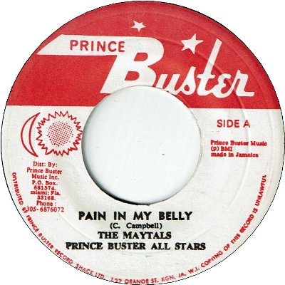 PAIN IN MY BELLY (VG) / TREATING ME BAD (VG)