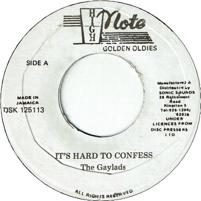 IT'S HARD TO CONFESS (VG-) / I NEED YOUR LOVING (VG-)