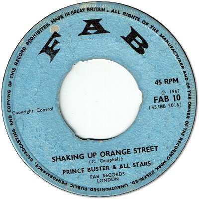SHAKING UP ORANGE STREET (VG) / BLACK GIRL (VG)
