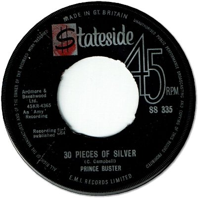 30 PIECES OF SILVER (VG+) / EVERYBODY SKA (VG)