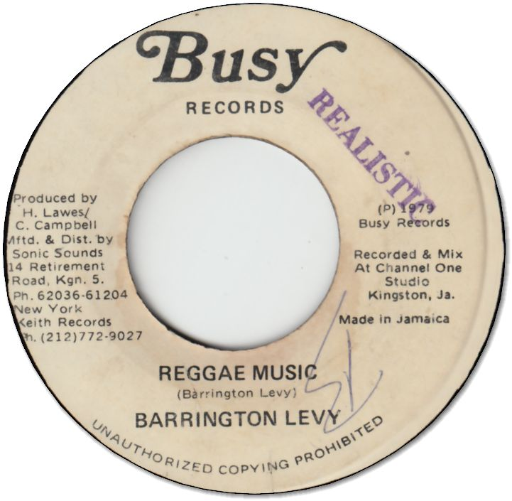 REGGAE MUSIC (VG) / VERSION (VG)