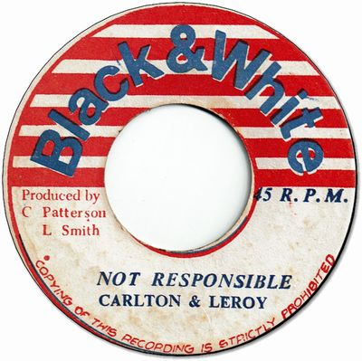NOT RESPONSIBLE (VG+) / PSALMS OF DUB (VG/WOL)