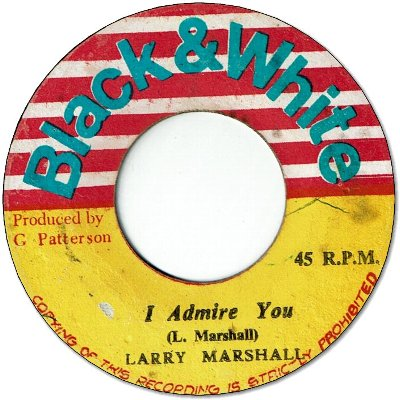 I ADMIRE YOU (VG+) / WATERGATE ROCK (VG)