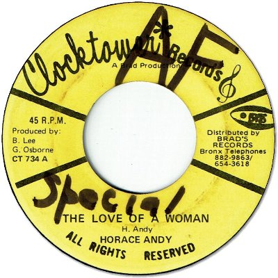 THE LOVE OF A WOMAN (VG+/WOL) / VERSION (VG+/WOL)