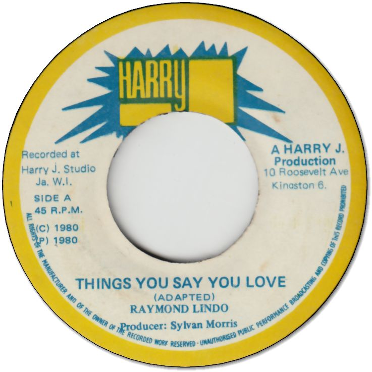 THINGS YOU SAY YOU LOVE (VG+)