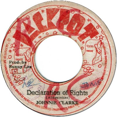 DECLARATION OF RIGHTS (VG+/WOL) / DUB OF RIGHTS (VG/WOL)