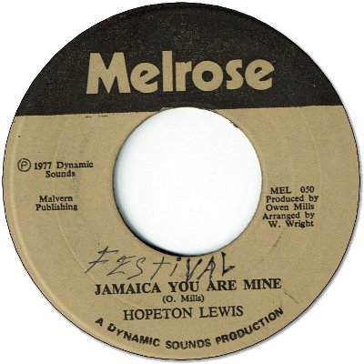 JAMAICA YOU ARE MINE (VG+/WOL)