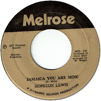 JAMAICA YOU ARE MINE (VG+/WOL) / VERSION (VG)