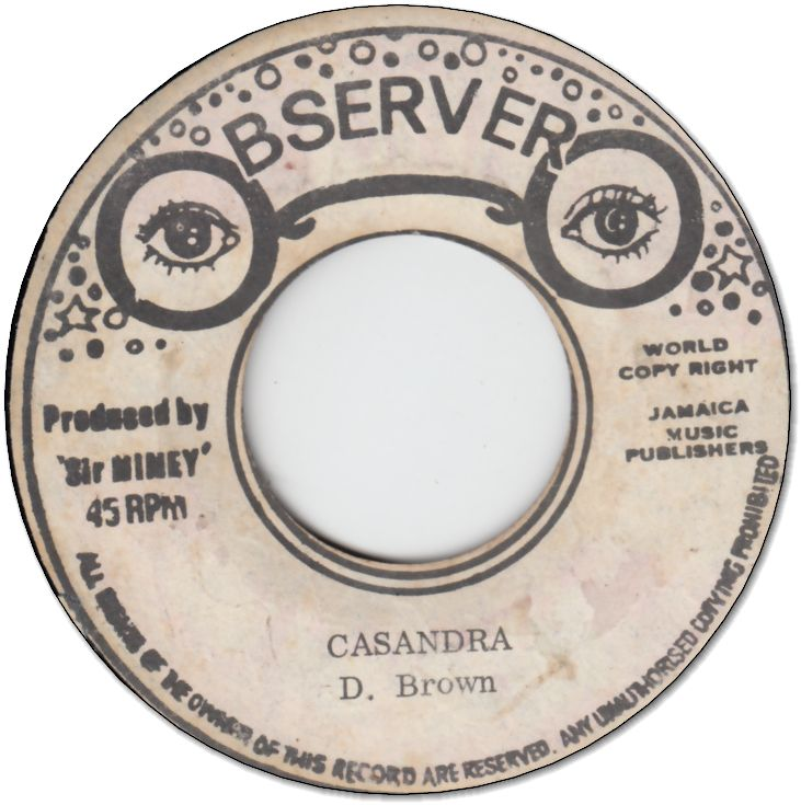 CASANDRA (VG) / FIRE FROM THE OBSERVER (VG-)