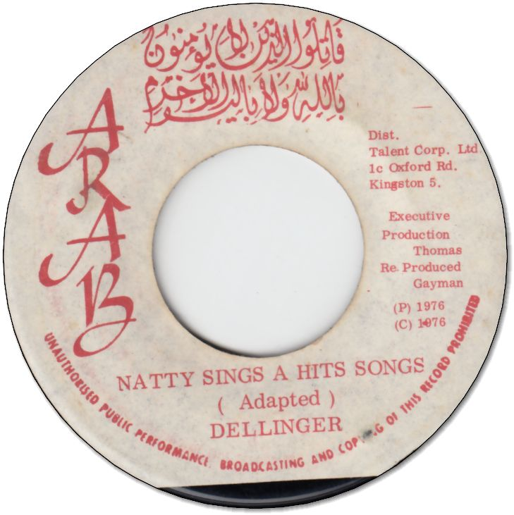NATTY SINGS A HITS SONGS (VG+) / DUBS SONGS (VG)