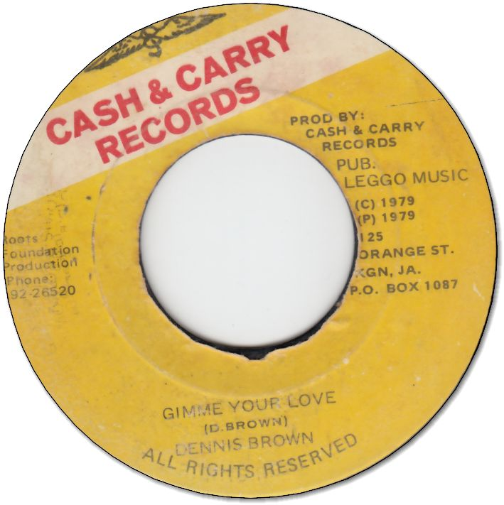 GIMME YOUR LOVE (VG+) / VERSION (VG)
