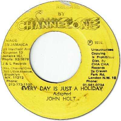 EVERY DAY IS JUST A HOLIDAY (VG+) / VERSION (VG)