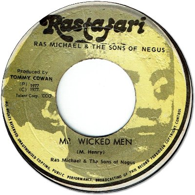 MR WICKED MEN (VG to VG+) / CHANT OUT THE WICKED (VG+)
