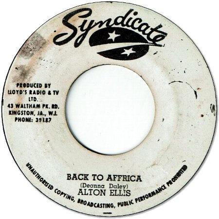 BACK TO AFRICA (VG) / BORN TO LOSE (VG)