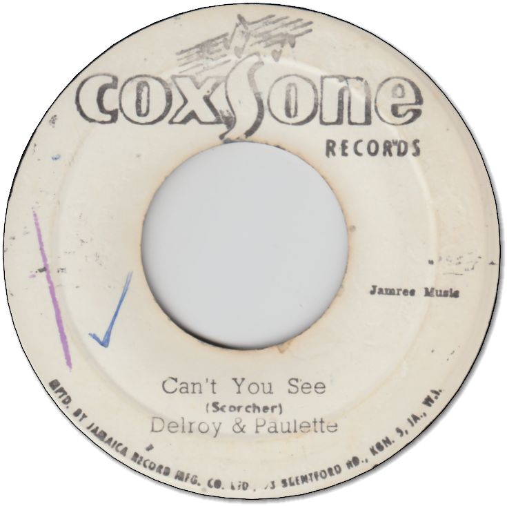 CAN'T YOU SEE (VG+) / YOU BEND MY LOVE  (VG-)