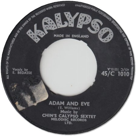 ADAM AND EVE (VG- to VG) / NOT ME AGAIN (VG-)