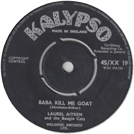 BABA KILL ME GOAT (VG+) / TRIBUTE TO COLLIE SMITH (VG)
