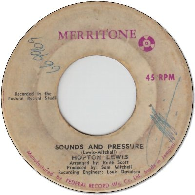 SOUND AND PRESSURE (VG-) / OH TELL ME DARLING (VG-)