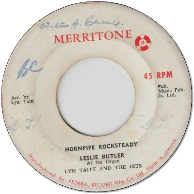 HORNPOPE ROCKSTEADY (VG- to VG/WOL) / YOU DON'T HAVE TO SAY YOU LOVE ME (VG-)