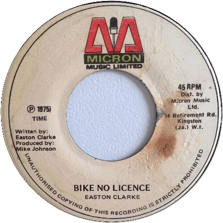 BIKE NO LICENCE (VG+) / VERSION (VG+)