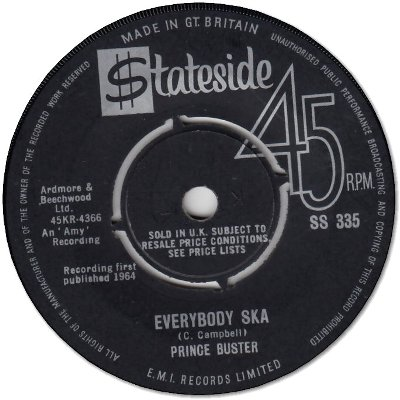 EVERYBODY SKA (VG+) /  30 PIECES OF SILVER (VG+)