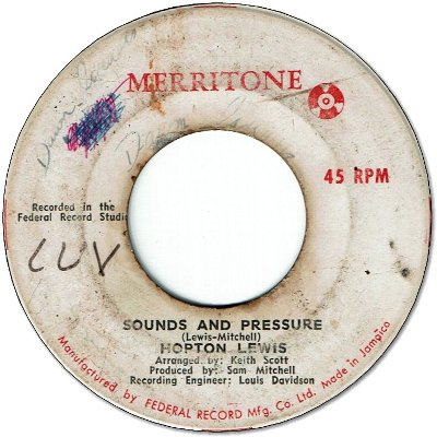 SOUNDS AND PRESSURE (VG/WOL) / OH TELL ME DARLING (VG)