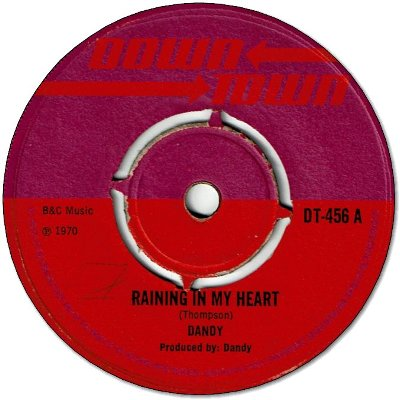 RAINING IN MY HEART (VG- to VG) / FIRST NOTE (VG-)