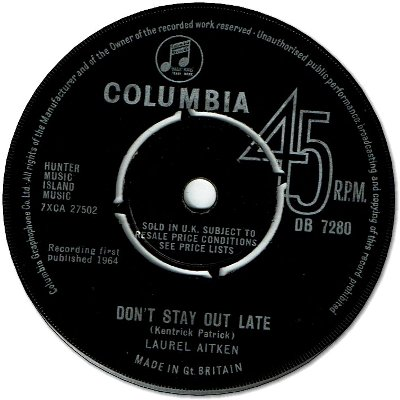 DON'T STAY OUT LATE (VG+) / BE MINE (VG+)